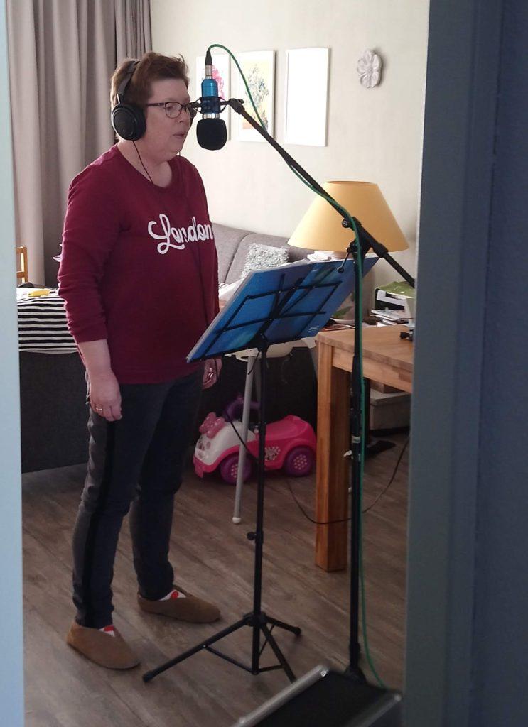 Begeleidende zang opname